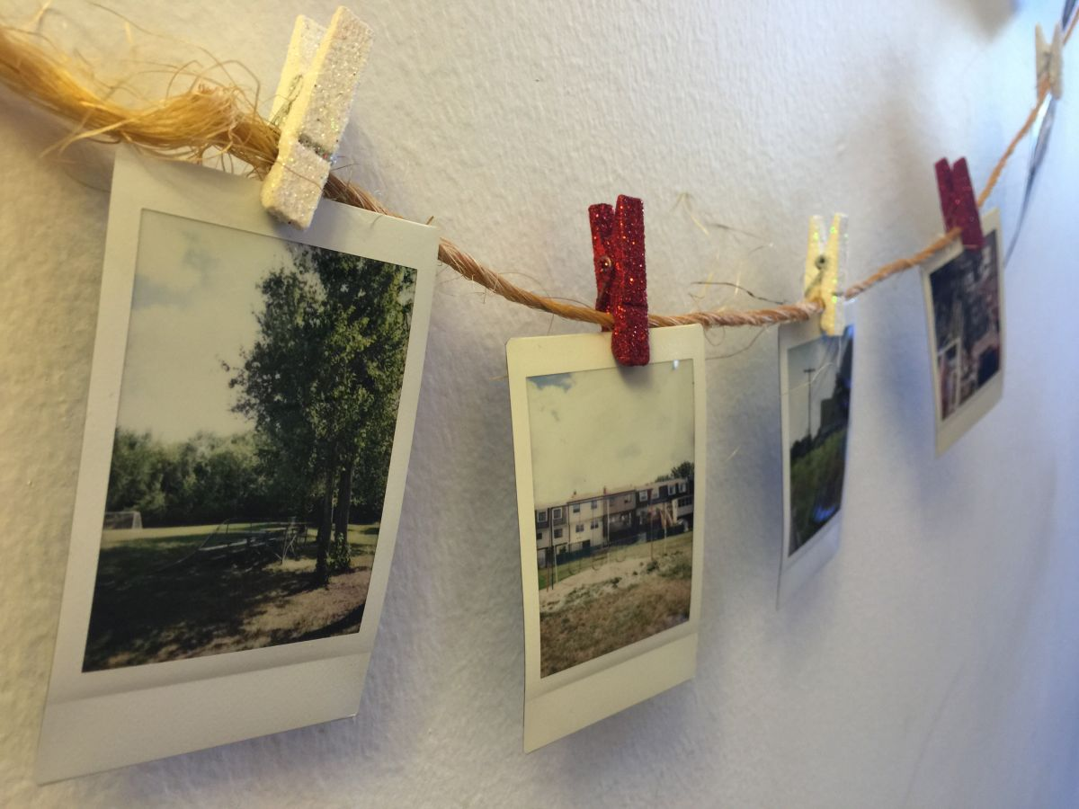 Clip photos on string