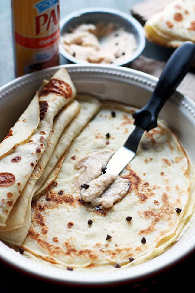 Coffee mascarpone cream crepes