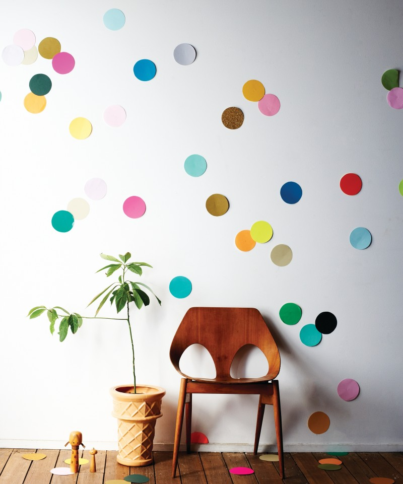 Wall Sticker Ideas Part - 34: Confetti Wall Decal Diy