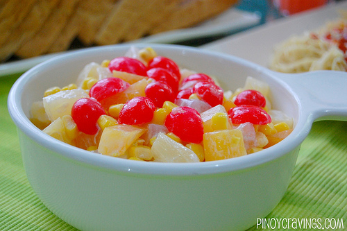 Creamy topical fruit salad
