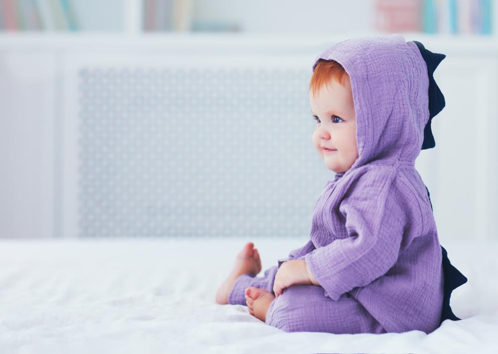 Cute baby girl halloween costumes purple dino