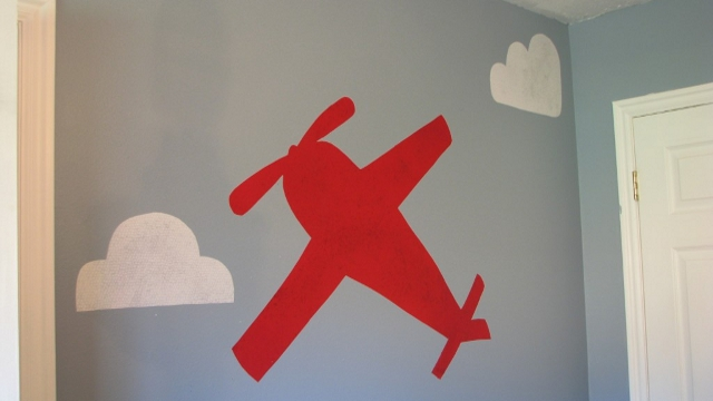 Diy airplane wall decal