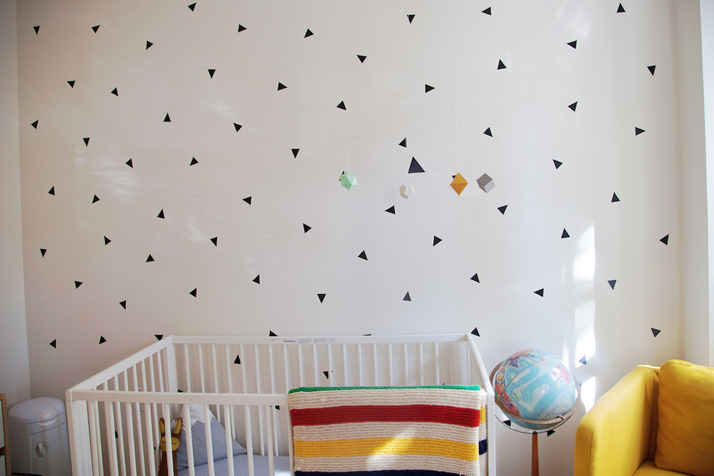 Diy Black Triangle Wall Decal