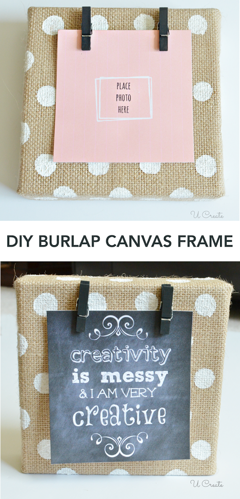 Diy burlap canvas frame