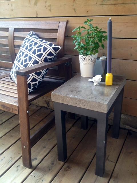 Diy concrete table