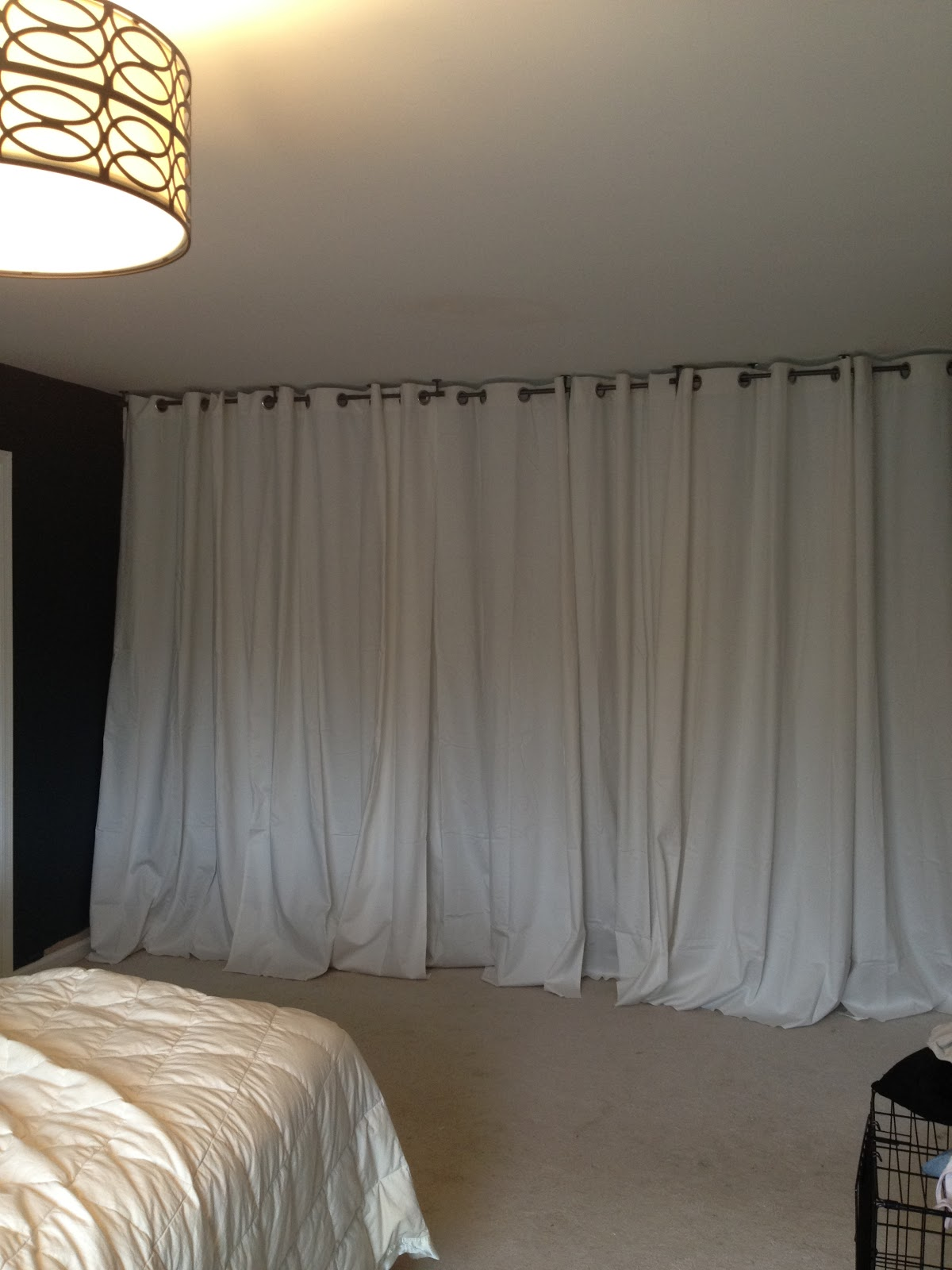20 diy room dividers to help utilize every inch of your home for Bedrooms curtains photos