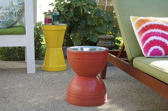 Diy flower pot table