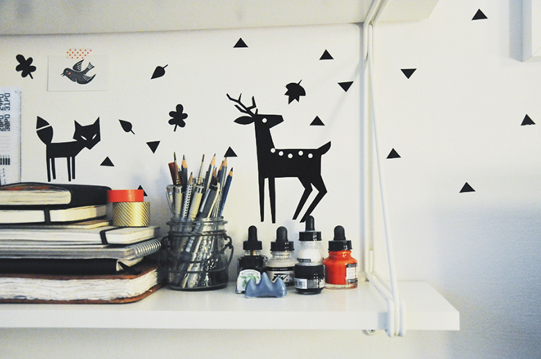 Diy forest friends wall decal