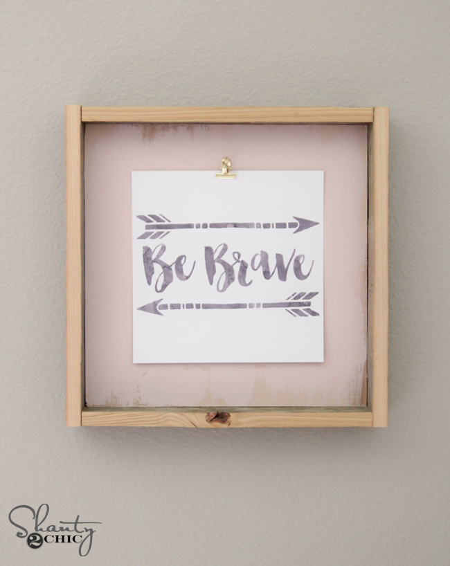 Diy frame and free printable Flaunt Your