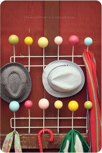 Diy hat rack
