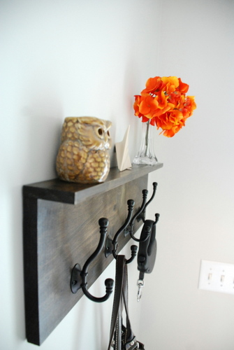 Hat  coat rack with shelf