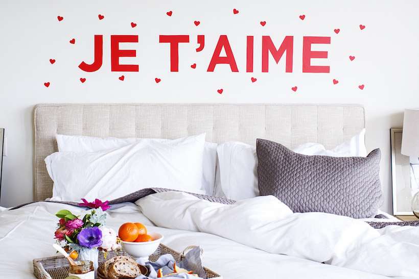 Diy je t'aime wall decal