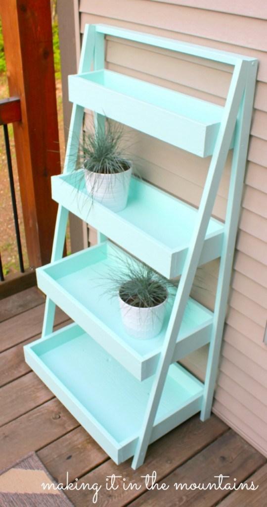 Diy ladder shelf