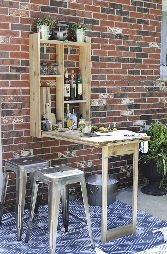 Diy murphy bar patio