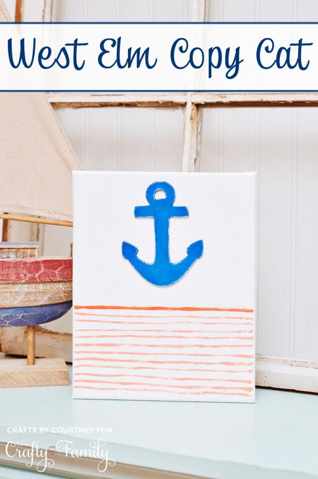 Diy nautical canvas art