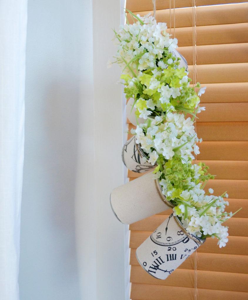 Diy tin can hanging planter