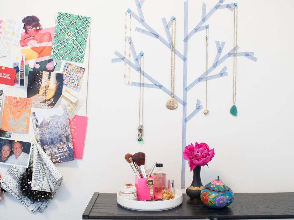 Diy tree jewelry holder decal
