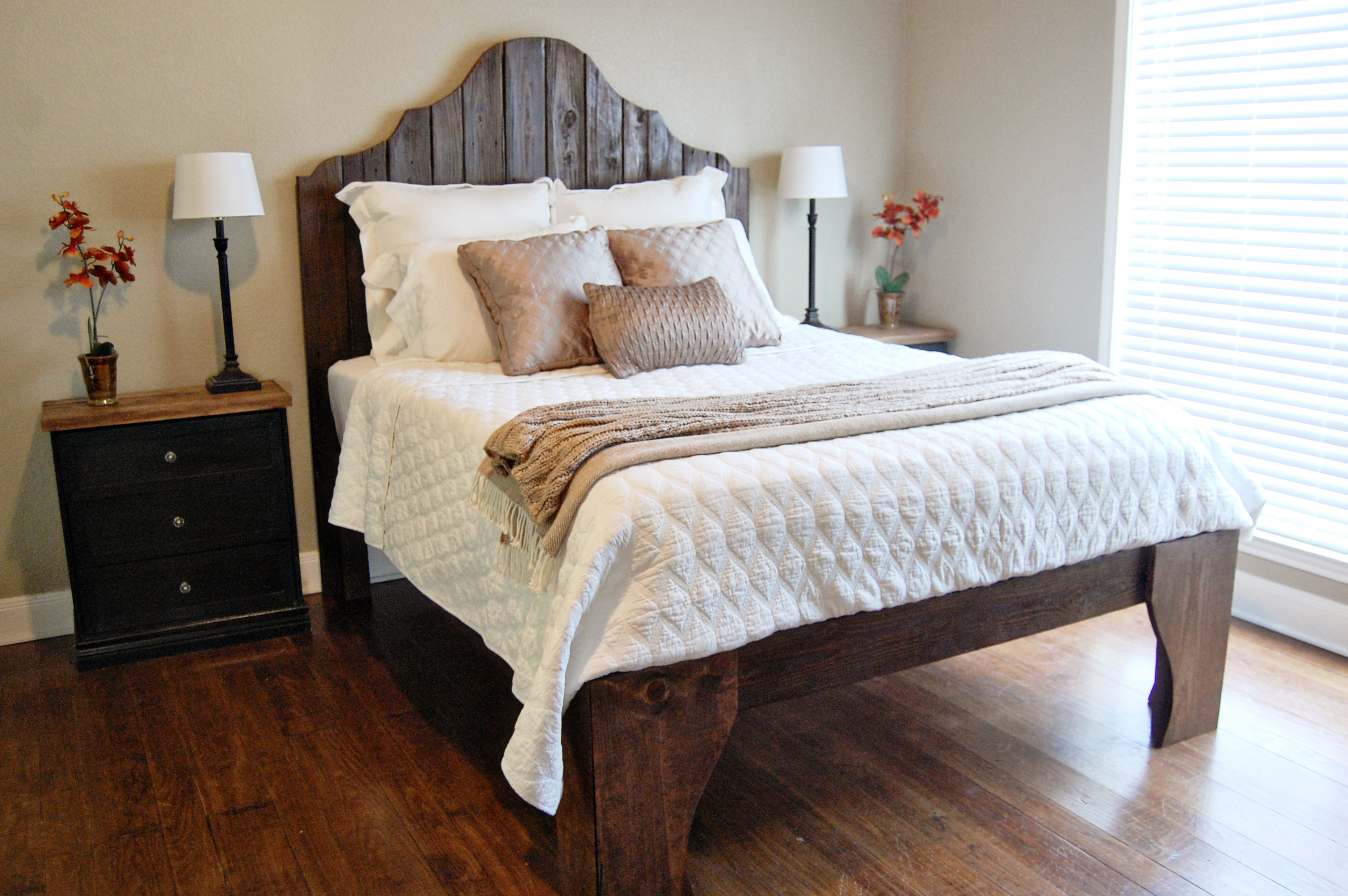 21 diy bed frames to give yourself the restful spot of your dreams Beautiful bedroom chairs that make it a joy getting out of bed