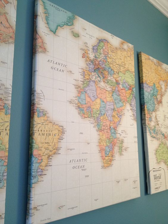 Diy canvas art map