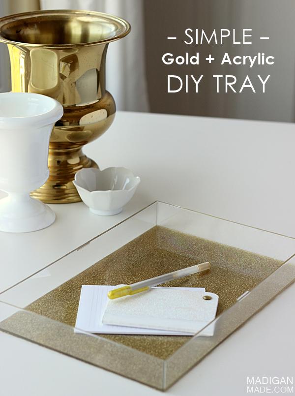 Diy glitter and acrylic tray