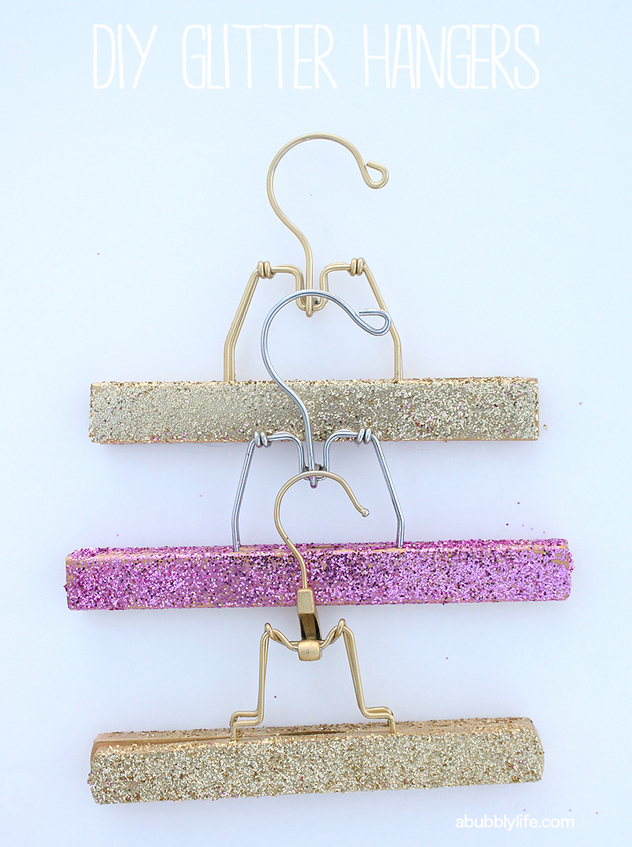 Diy glitter hangers
