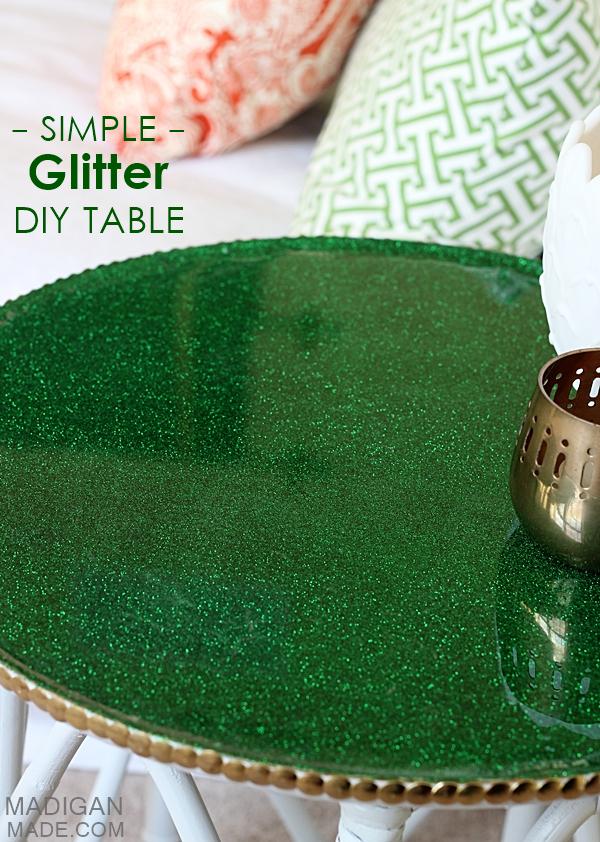 Diy glitter tabletop