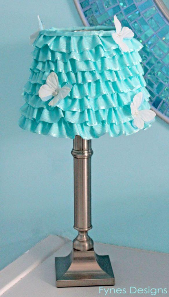 Diy ribbon lampshade