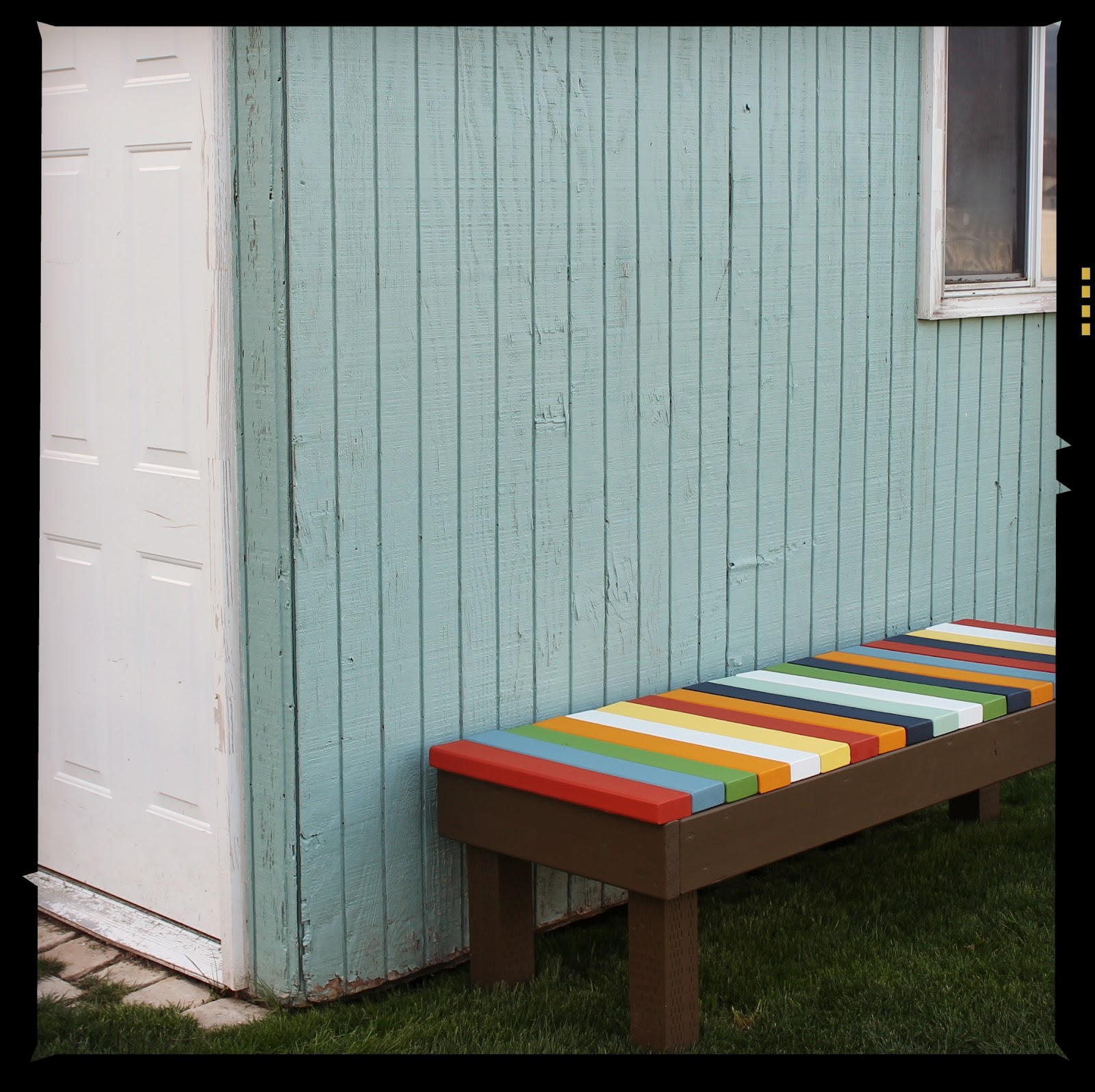 Diy colorful bench