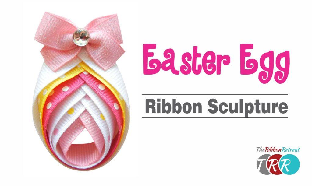 Easter egg ribbon sculpture