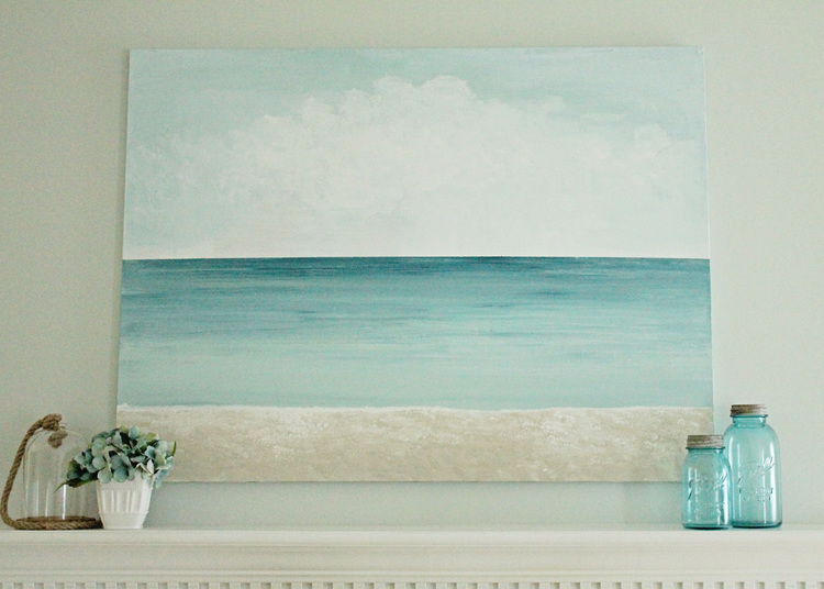 Blue Canvas Art Diy: Get Creative And Show Your Artistic Side With These 50
