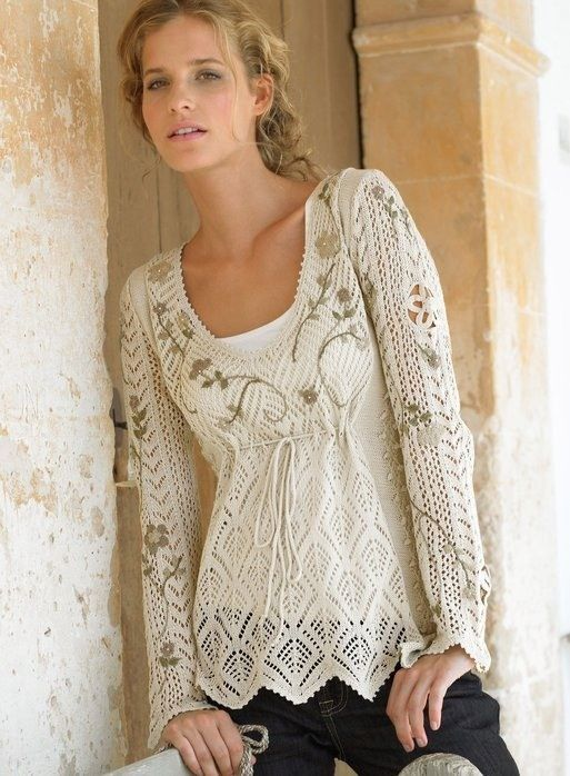 Knitting Pattern Lace Jacket : Crochet Lace Sweaters That Will Make People Say