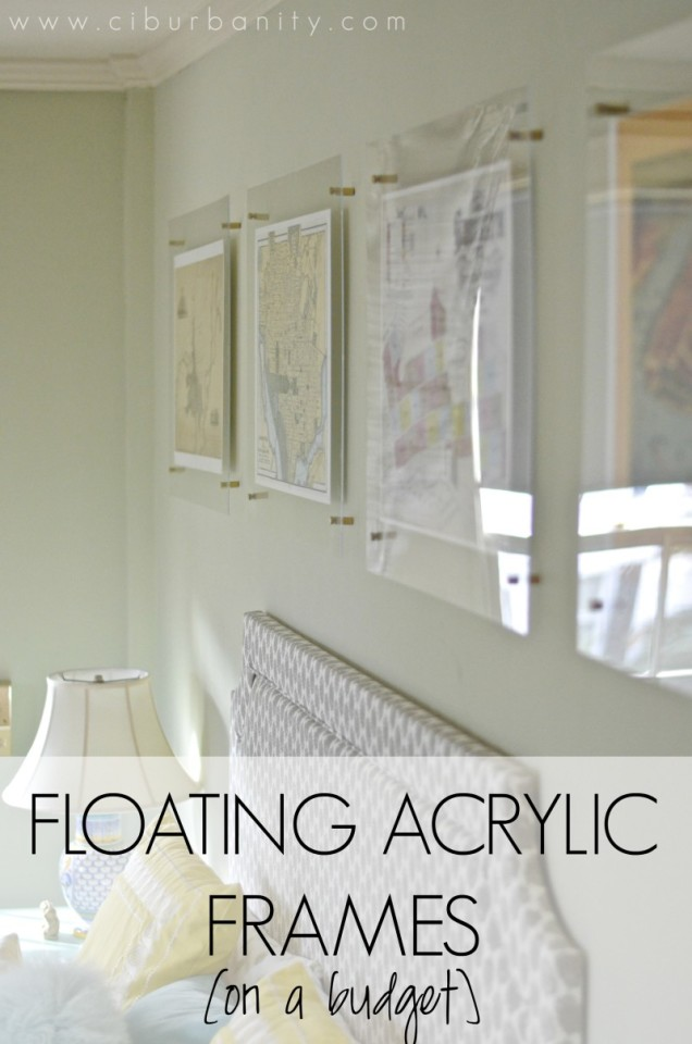 Floating acrylic frames