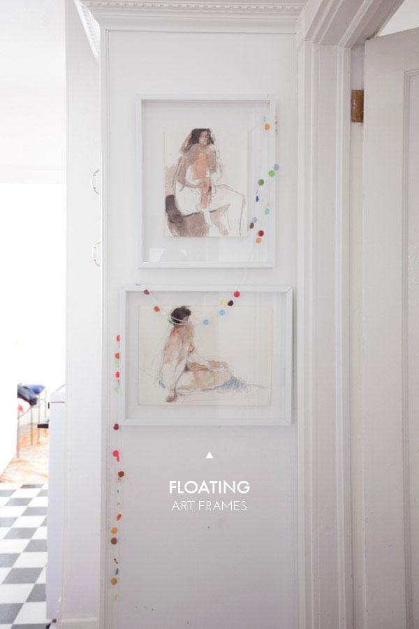Floating art frames diy