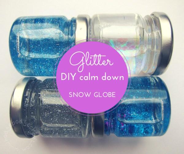 Glitter calm down jars