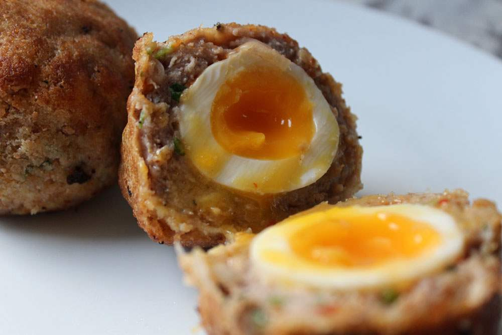 Gluten free baked scotch egg recipe