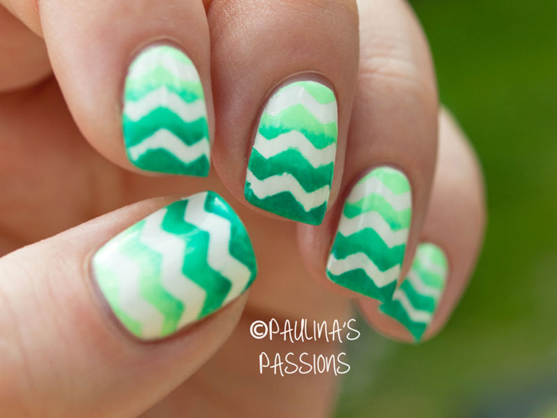 Green gradient chevron