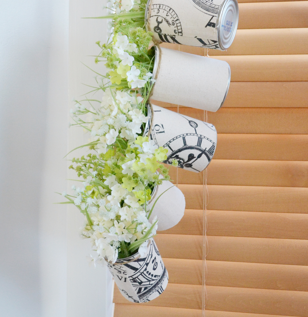 Hanging cans closer to window