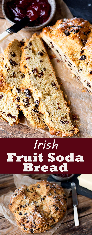 Irish fruit soda bread