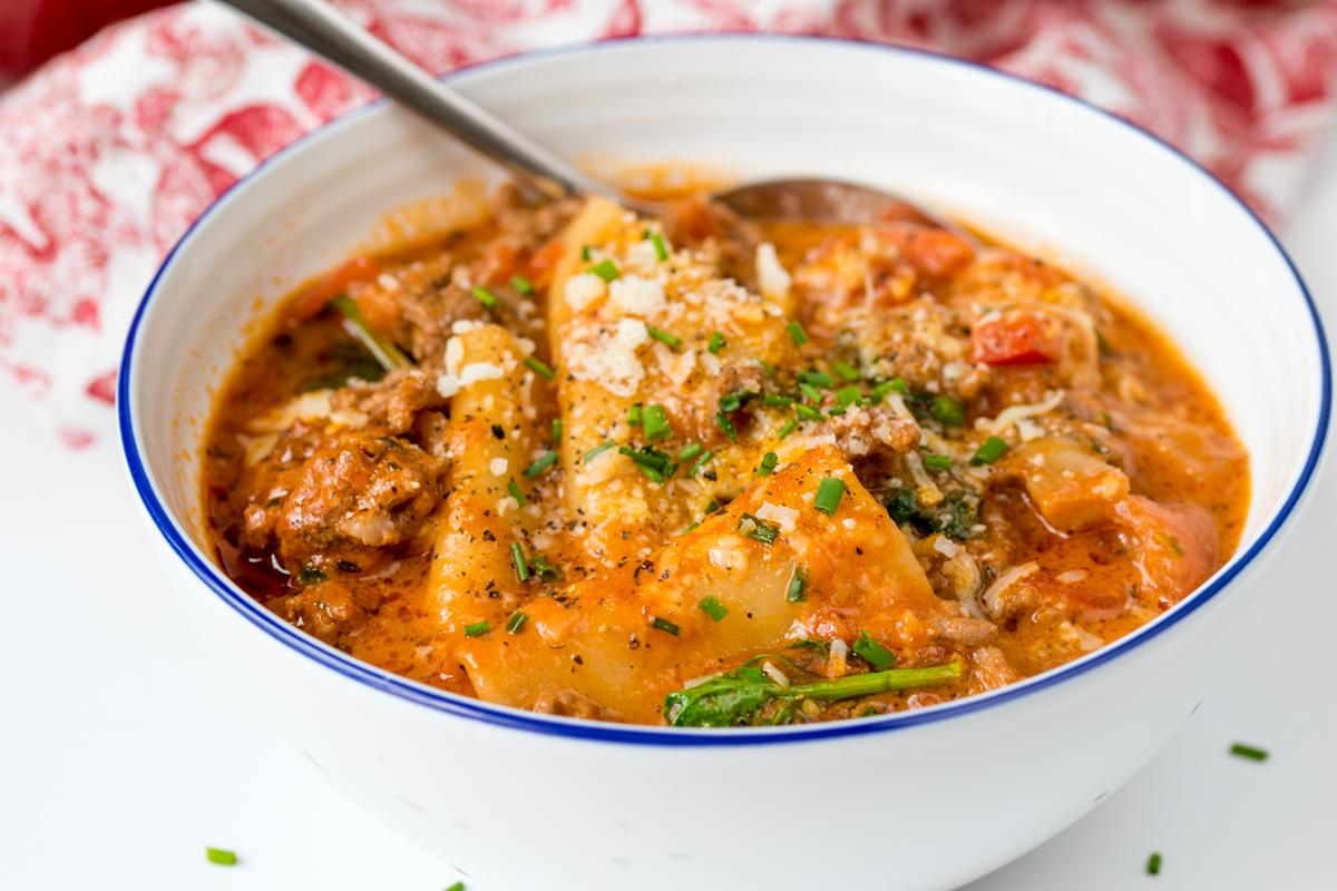 Lasagna soup step finished 6