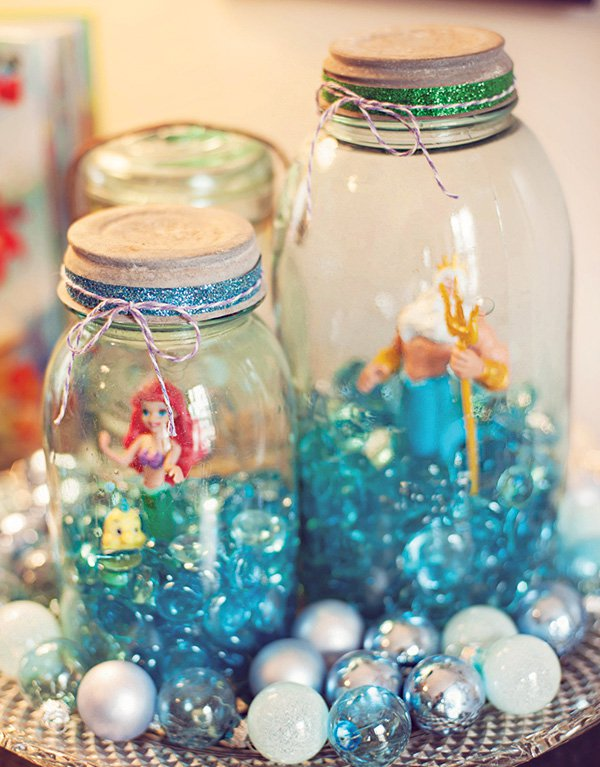 Little mermaid terrariums