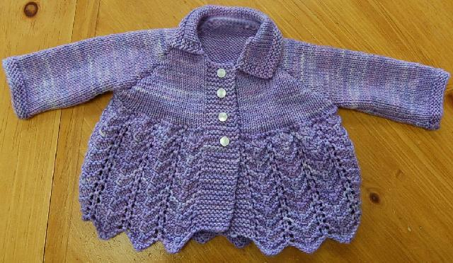 Lovely in lace baby sweater