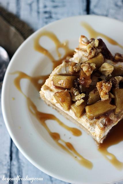 Maple applie pie cheesecake bars