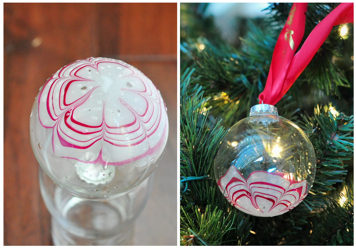 Marbled christmas ornament