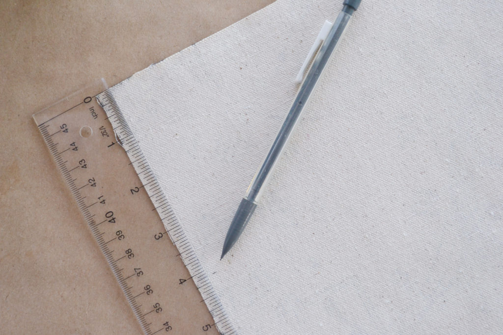 Measure the burlap