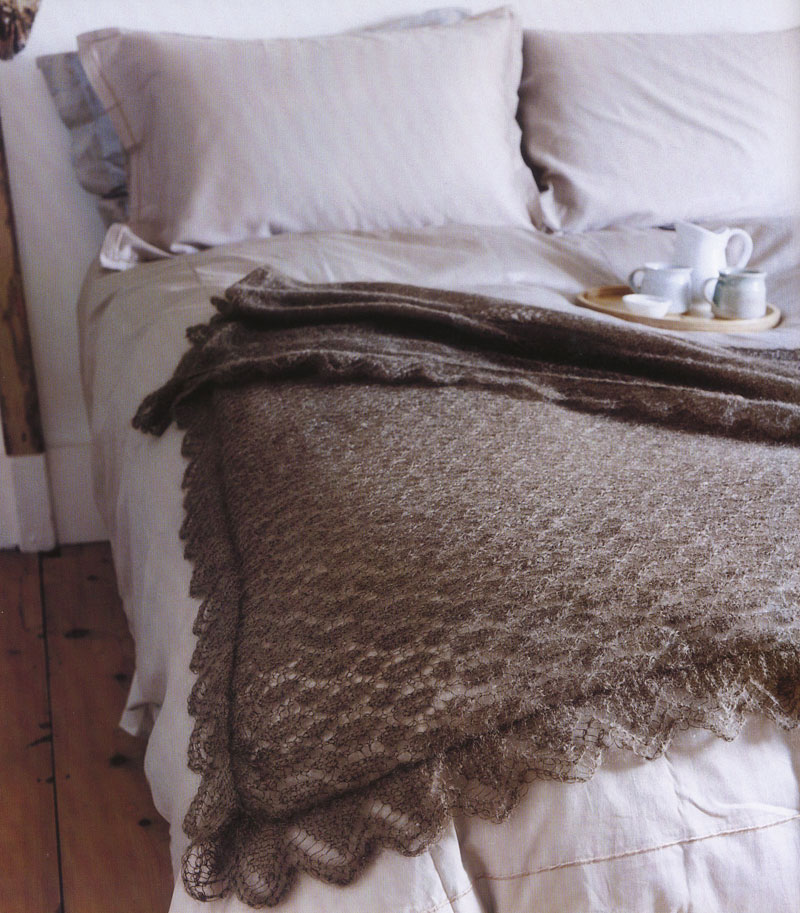 Mohair lace throw