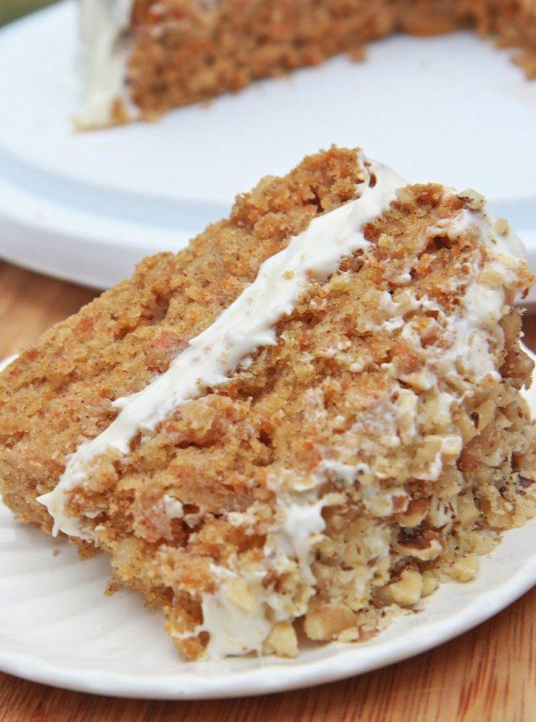 Moist, fluffy gluten free carrot cake