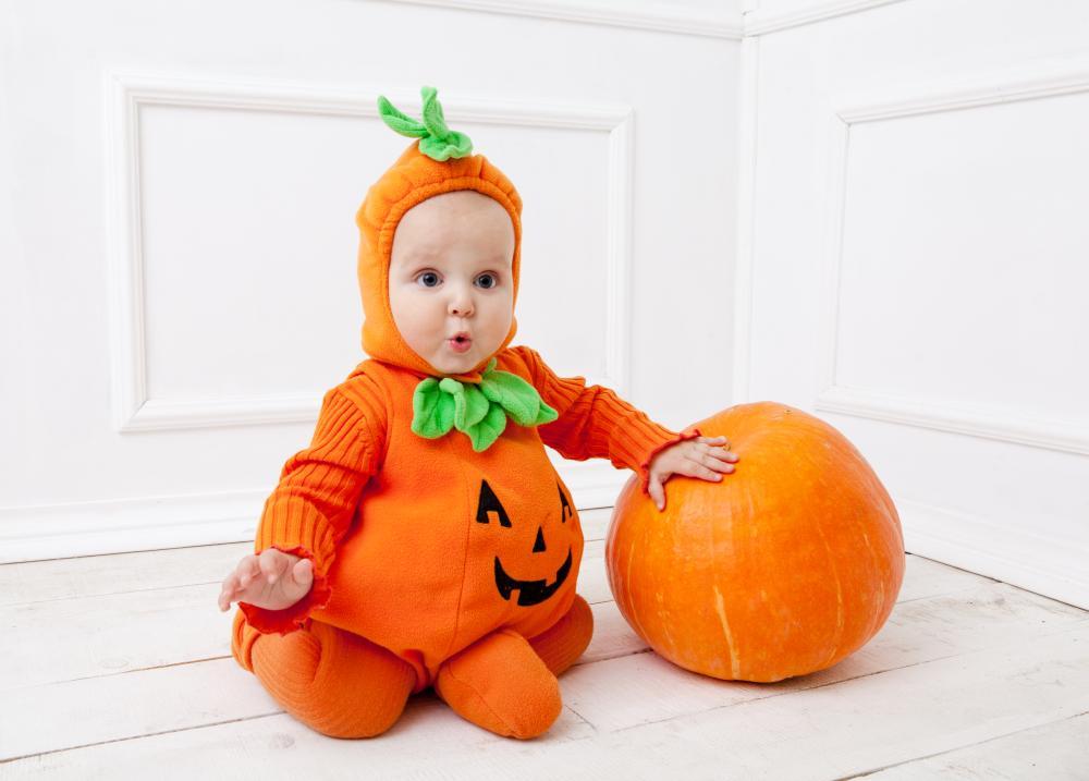 Newborn costumes cute pumpkin