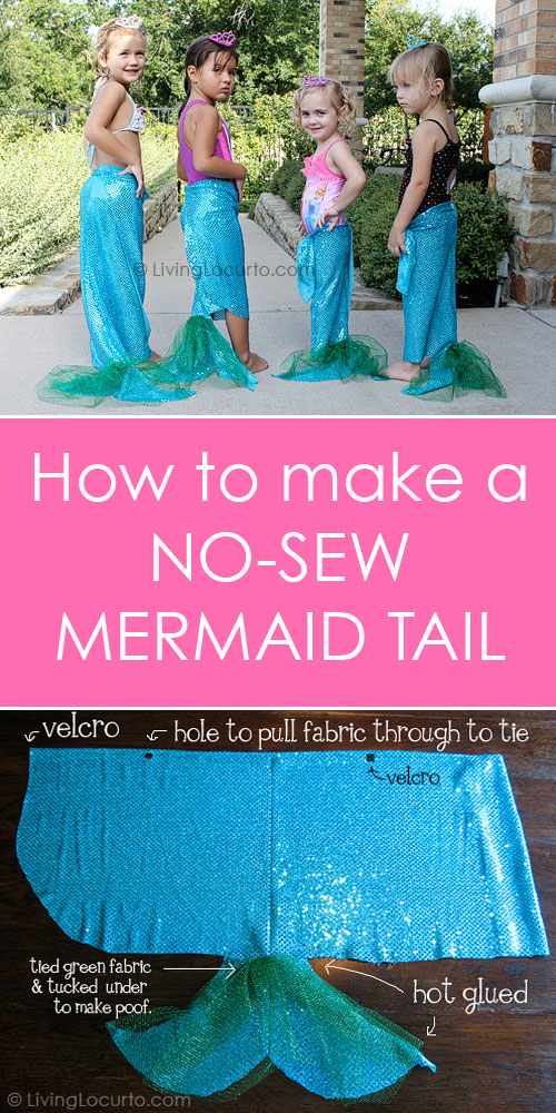 No sew mermaid tail