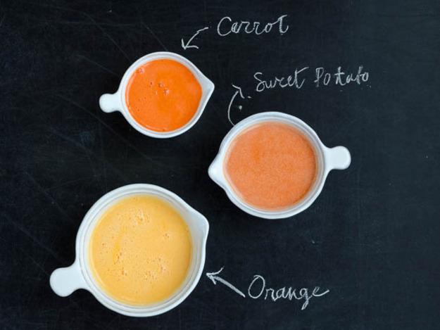 Orange sweet potato juice