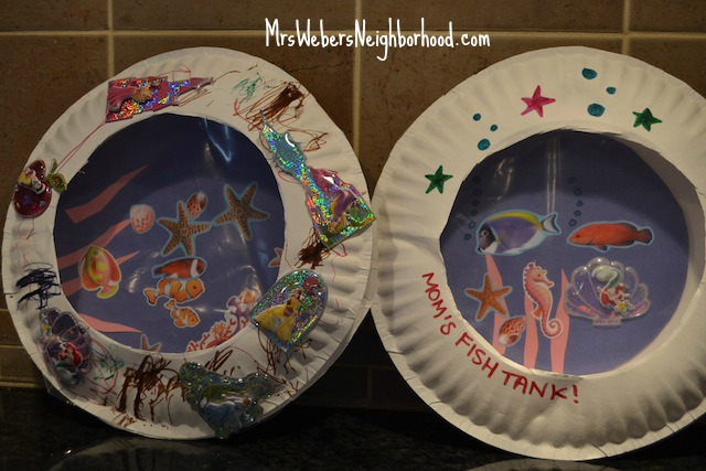 "Paper plate ""fish tanks"""